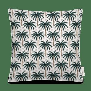 coussin extérieur palmier vert