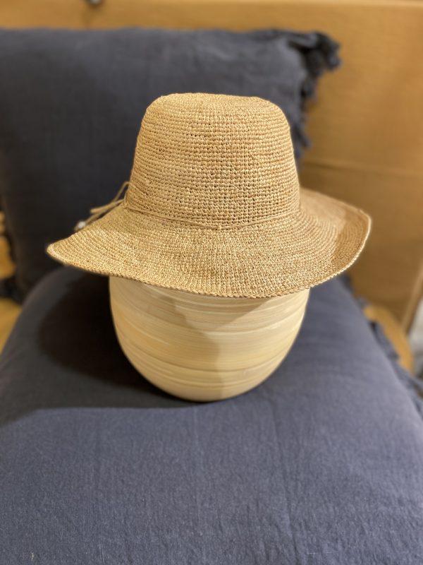 chapeau paille Gisèle face