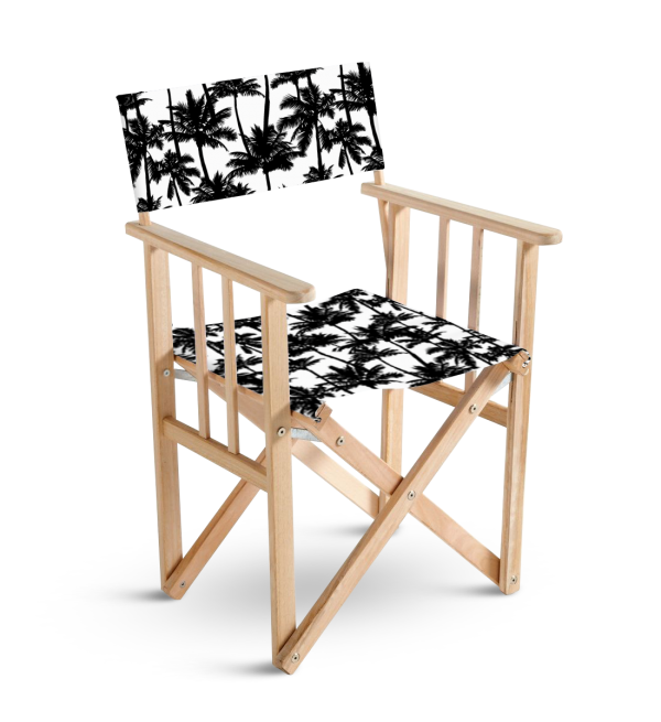 chaise metteur en scène palmier